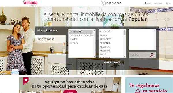 Banco popular inmobiliaria pisos de embargos por los for Inmobiliaria aliseda