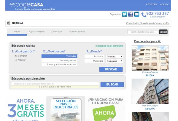 Escogecasa portal inmobiliario de abanca pisos de for Pisos de bancos bbva